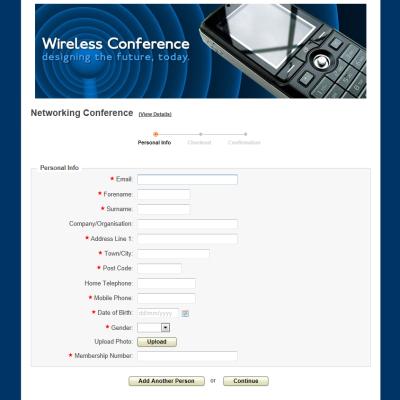registration form sample